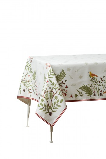 Leaf Pattern Tablecloth 140x250
