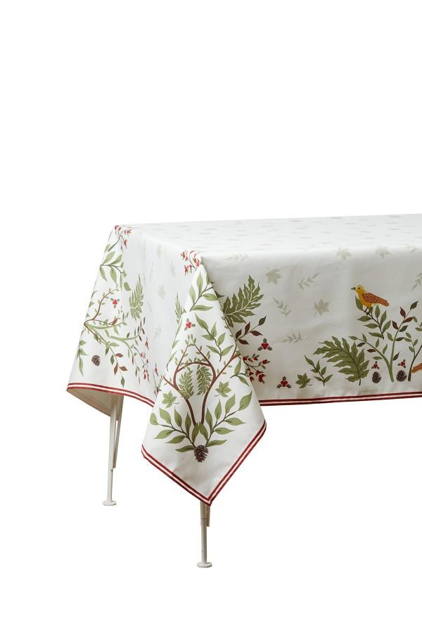 Leaf Pattern Tablecloth 140x250
