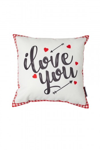 Valentine's Day White Love You Pillow