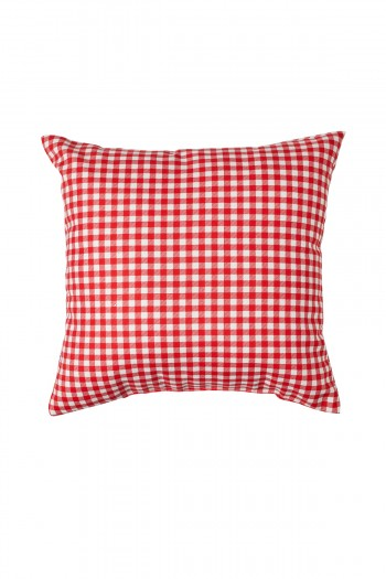Valentine's Day Red and White Patterned Pillow