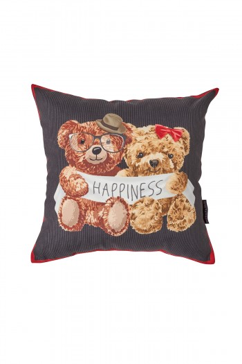 Valentines Day Happıness Pillow with Bear