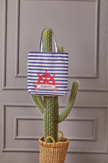 Striped Marine Beach Bag