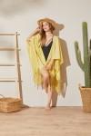 Püsküllü Kimono Plaj Elbisesi