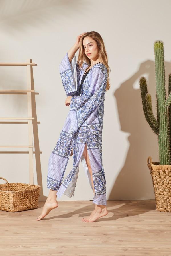 Bahem Baskılı Kimono
