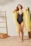 Kimono Sarı Plaj Elbisesi