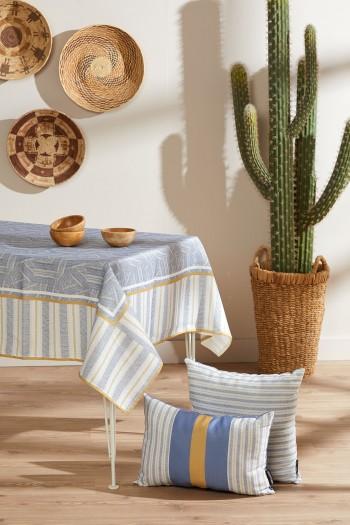 Striped Keten Masa Örtüsü