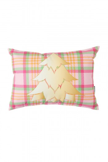 Pine Tree Pink Rectangular Cushion