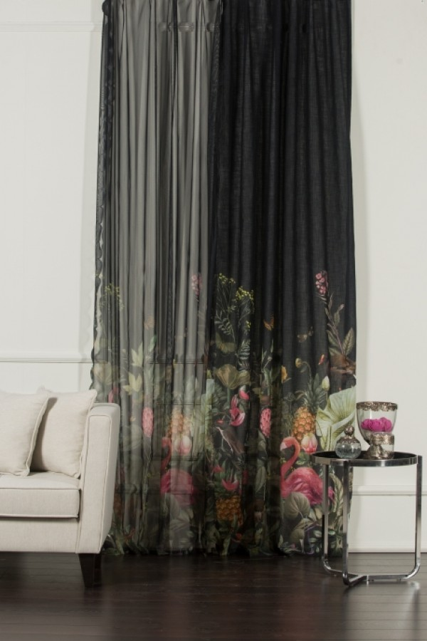 Tulle And Linen Background Curtain Set