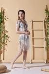 Aqua Ecru Beach Dress