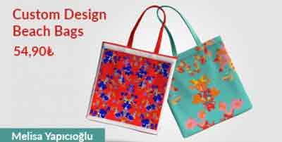 custom design beach bag