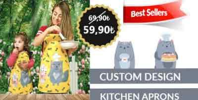 custom design kithcen apron