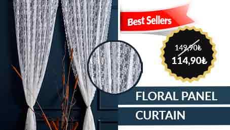 Floral Panel Curtain Set