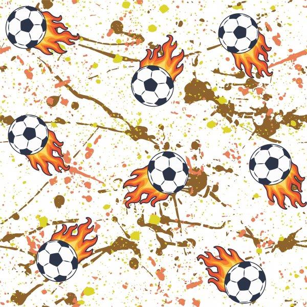 alevli futbol topu